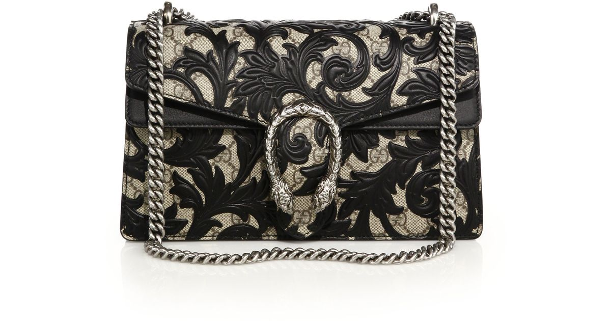 0194c6e59478 Lyst - Gucci Dionysus Small Arabesque Shoulder Bag in Black