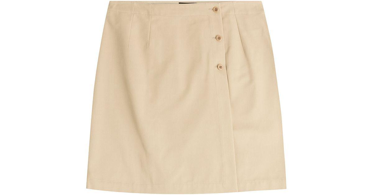 a p c cotton a line skirt beige in beige lyst