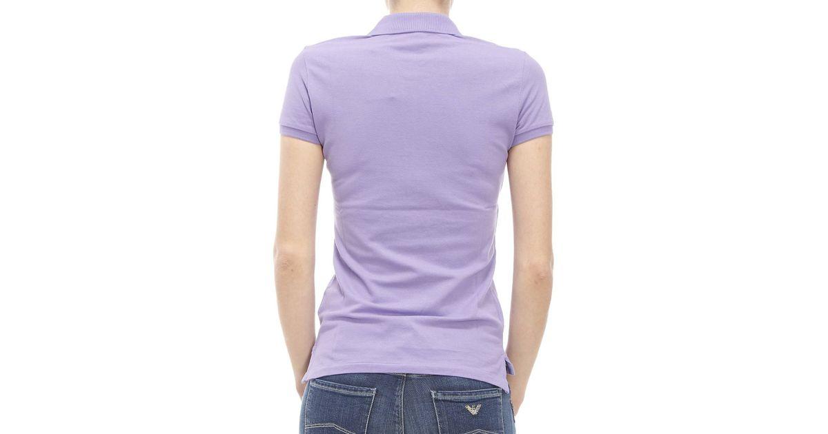 polo ralph lauren t shirt in purple lyst. Black Bedroom Furniture Sets. Home Design Ideas