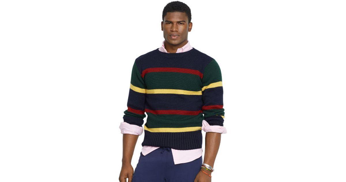 4f904934 Polo Ralph Lauren Striped Wool Sweater in Blue for Men - Lyst