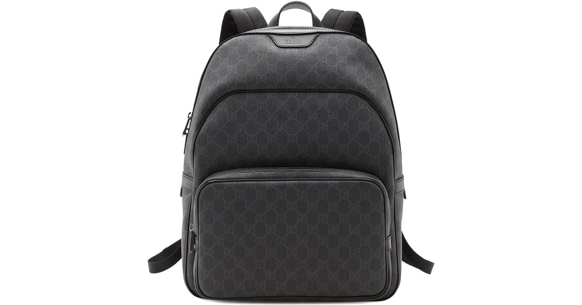 cd0935cdedcf Lyst - Gucci Gg Supreme Canvas Backpack in Black for Men