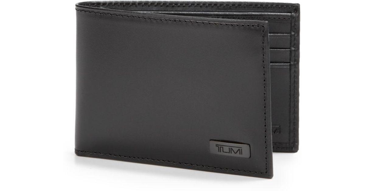Tumi Horizon Bi-Fold Wallet in Black for Men