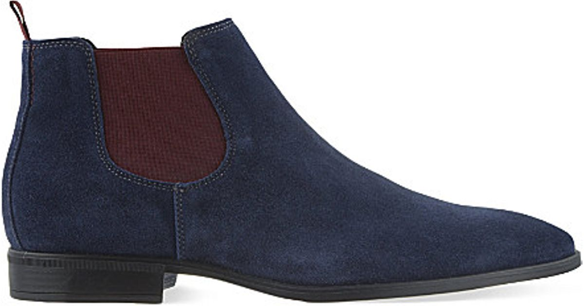 Kg By Kurt Geiger Lesley Suede Chelsea Boots In Blue For