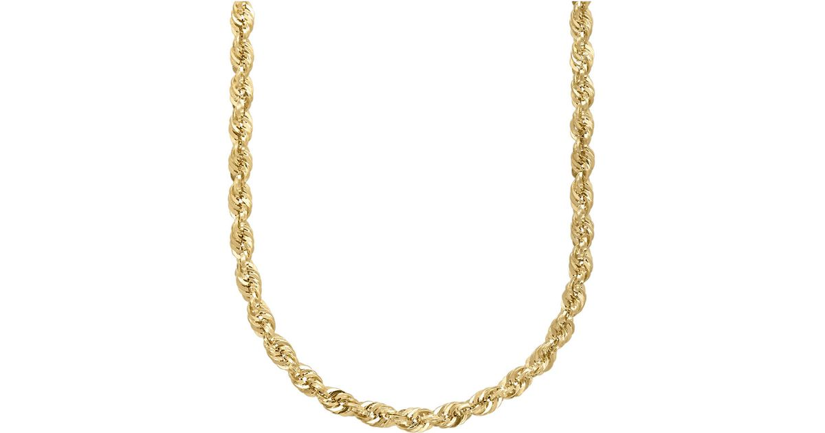 lyst lord amp taylor 14k yellow gold rope chain link