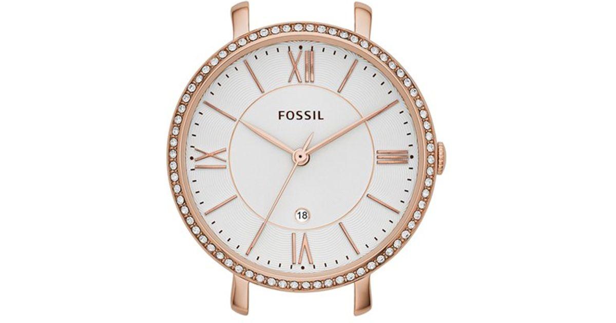 fossil 39 jacqueline 39 crystal watch case in gold rose gold. Black Bedroom Furniture Sets. Home Design Ideas