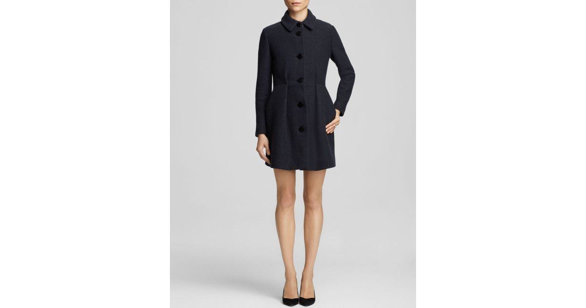 Maje Feminine Wool Coat - Bloomingdale'S Exclusive in Blue | Lyst