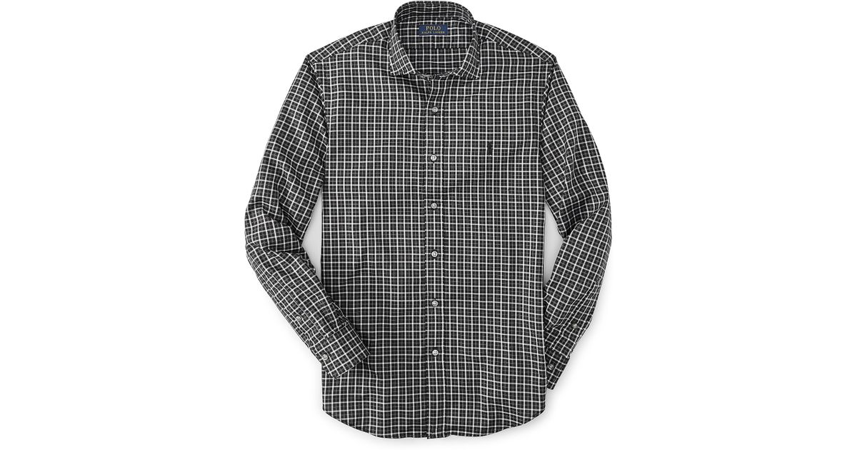 7f8d5b8476a Polo Ralph Lauren Estate Slim-fit Checked Shirt in Black for Men - Lyst