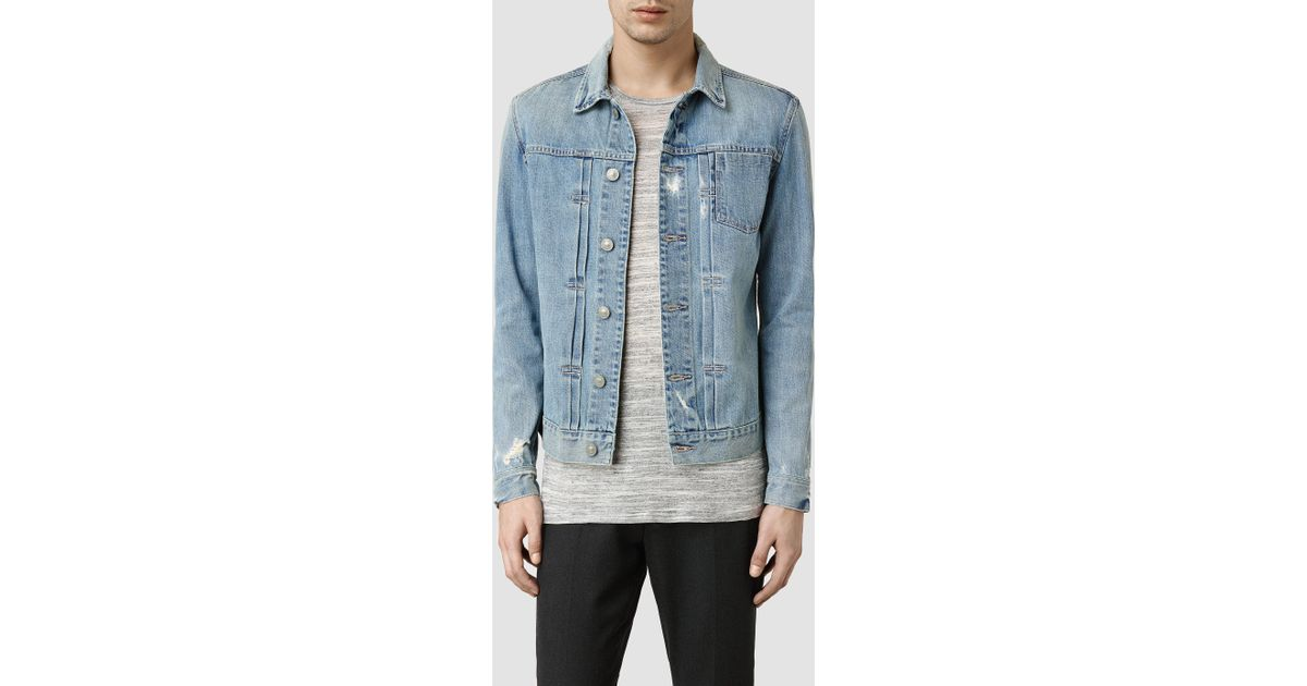 AllSaints Hisa Denim Jacket in Blue for Men - Lyst 3edf3db7e