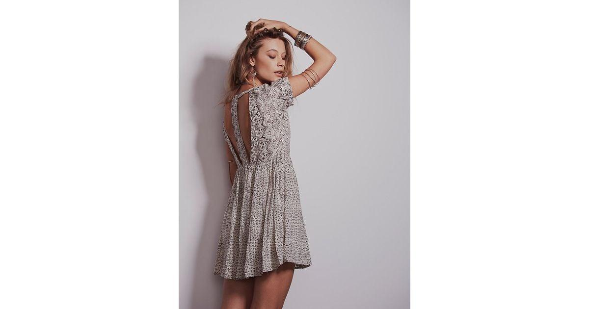 802a5c2ff8 Free People Sundown Babydoll Dress in Gray - Lyst