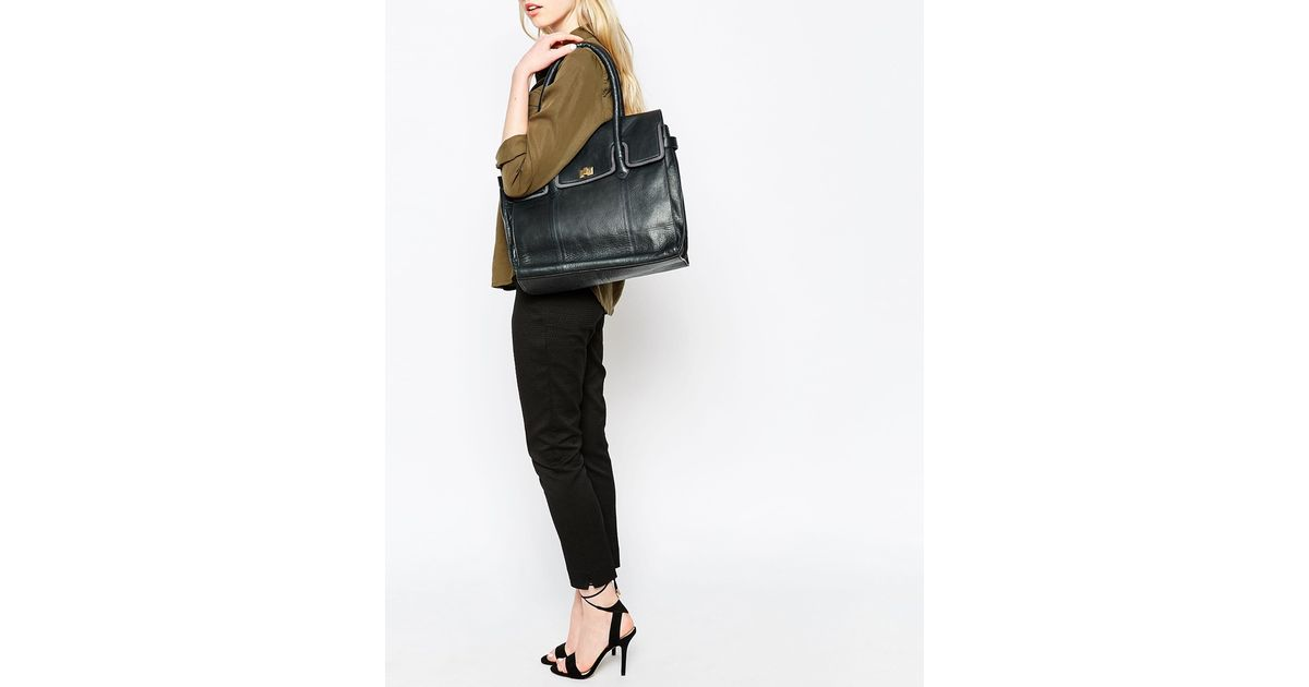 Urbancode Work Tote Bag With Contrast Flap Over Detail in Black | Lyst