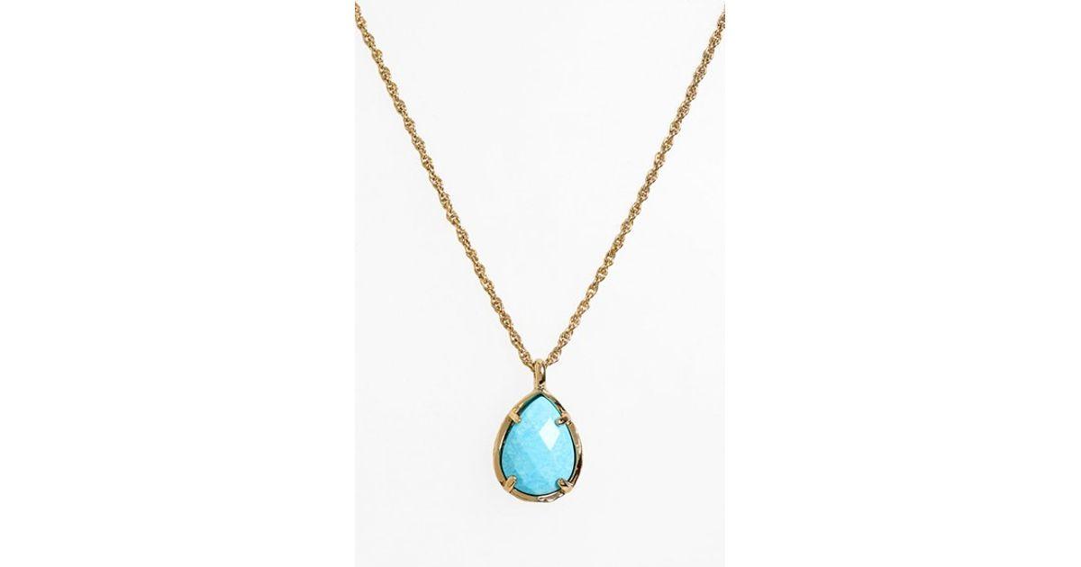 f88f5ad1f70306 Kendra Scott Kiri Teardrop Pendant Necklace in Blue - Lyst