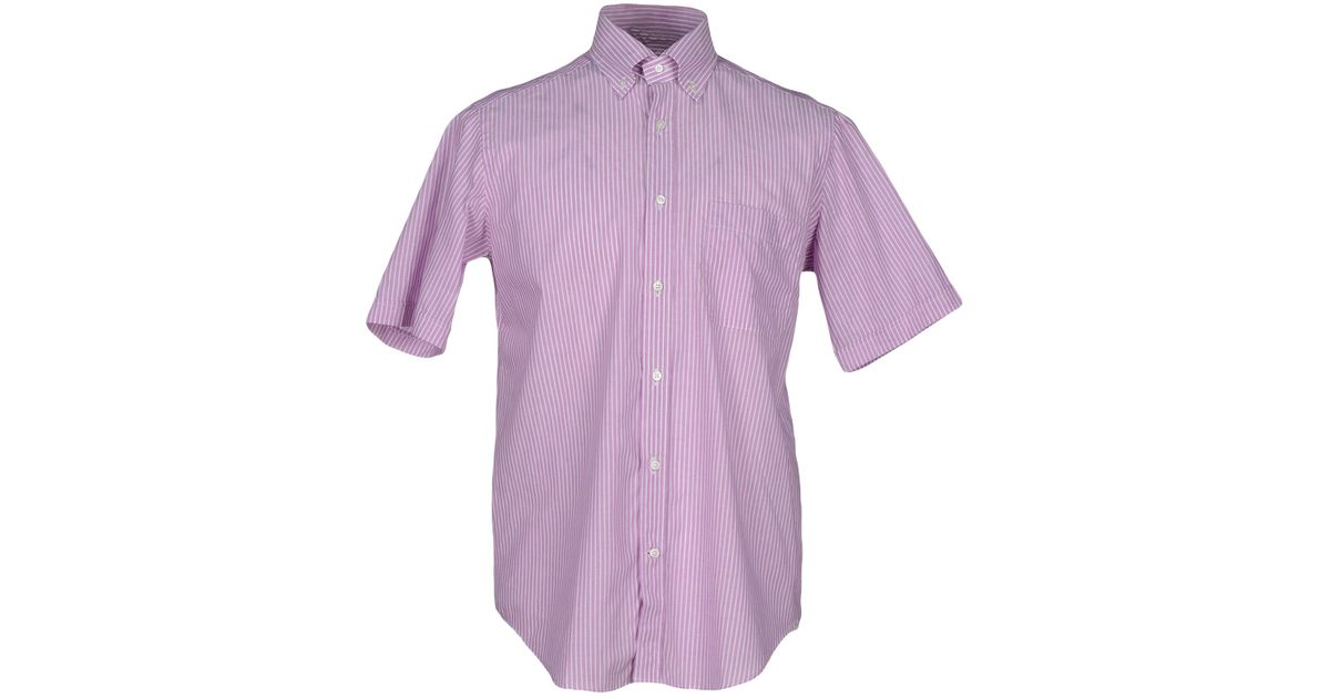 Lyst carlo pignatelli shirt in purple for men Light purple dress shirt men