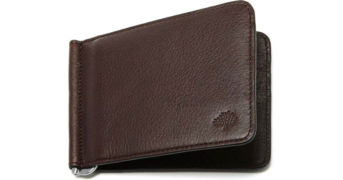 8addb09486 ... germany lyst mulberry money clip wallet in brown for men 53d16 d2bf4