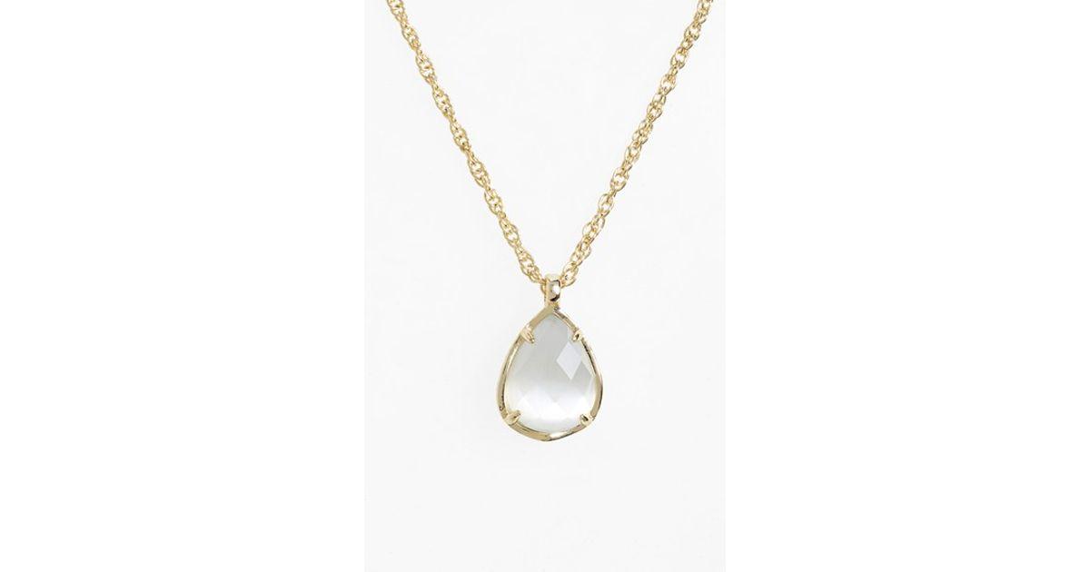 bc3f2a4d5195fe Kendra Scott Kiri Teardrop Pendant Necklace in Metallic - Lyst