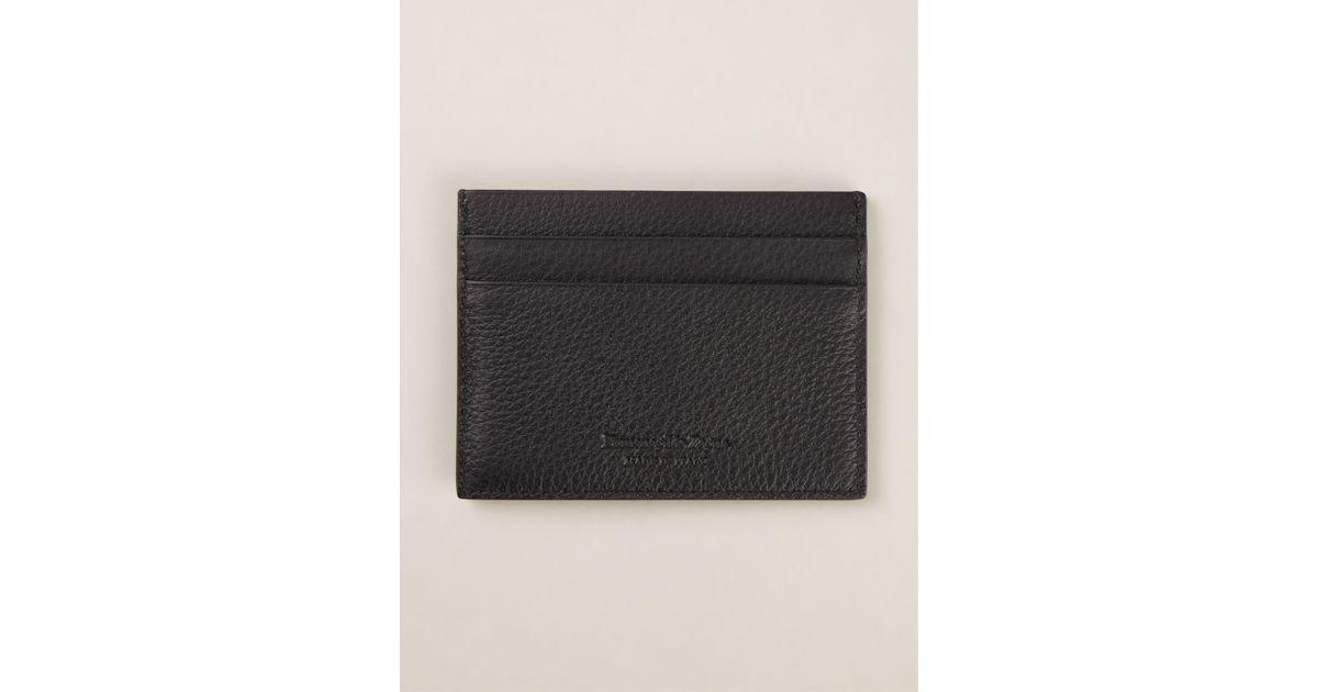 Lyst ermenegildo zegna classic cardholder in black for men reheart Images