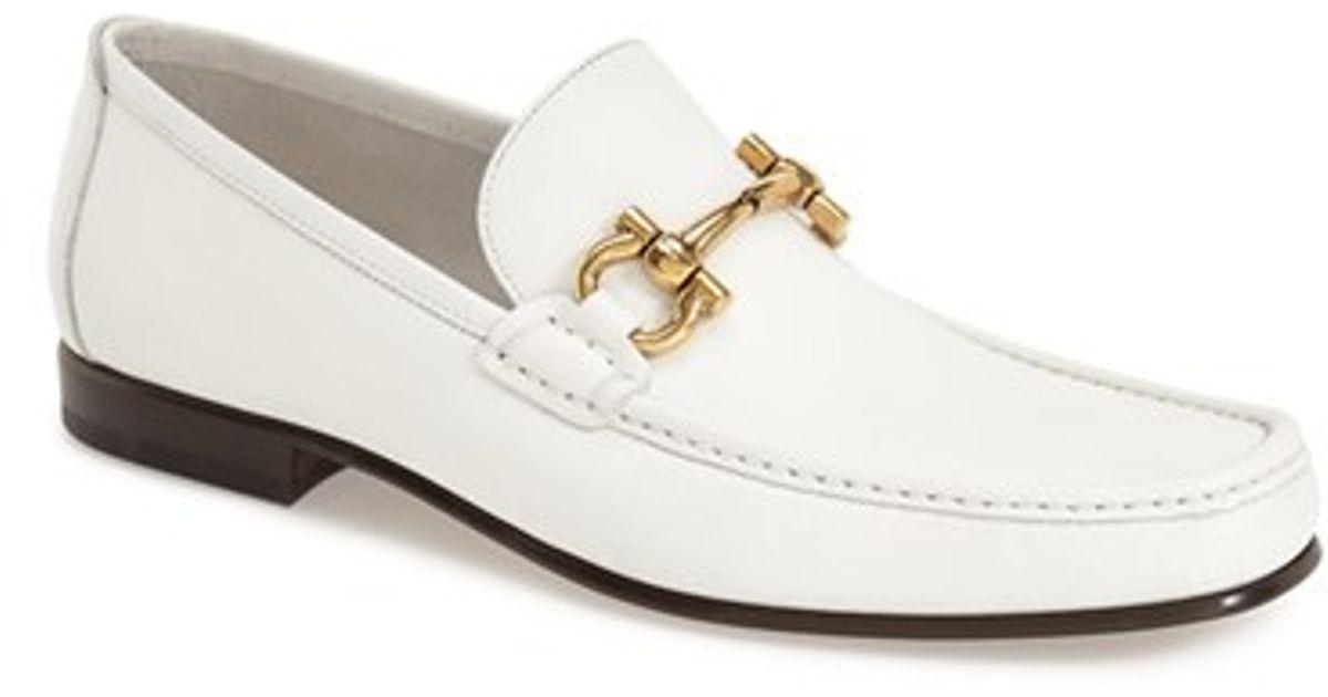 d0a5fe27652 Lyst - Ferragamo  giordano  Loafer in White for Men