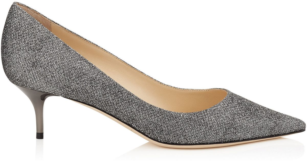 3f58dc7e7c0 Lyst - Jimmy Choo Aza Glitter Leather Pumps in Gray