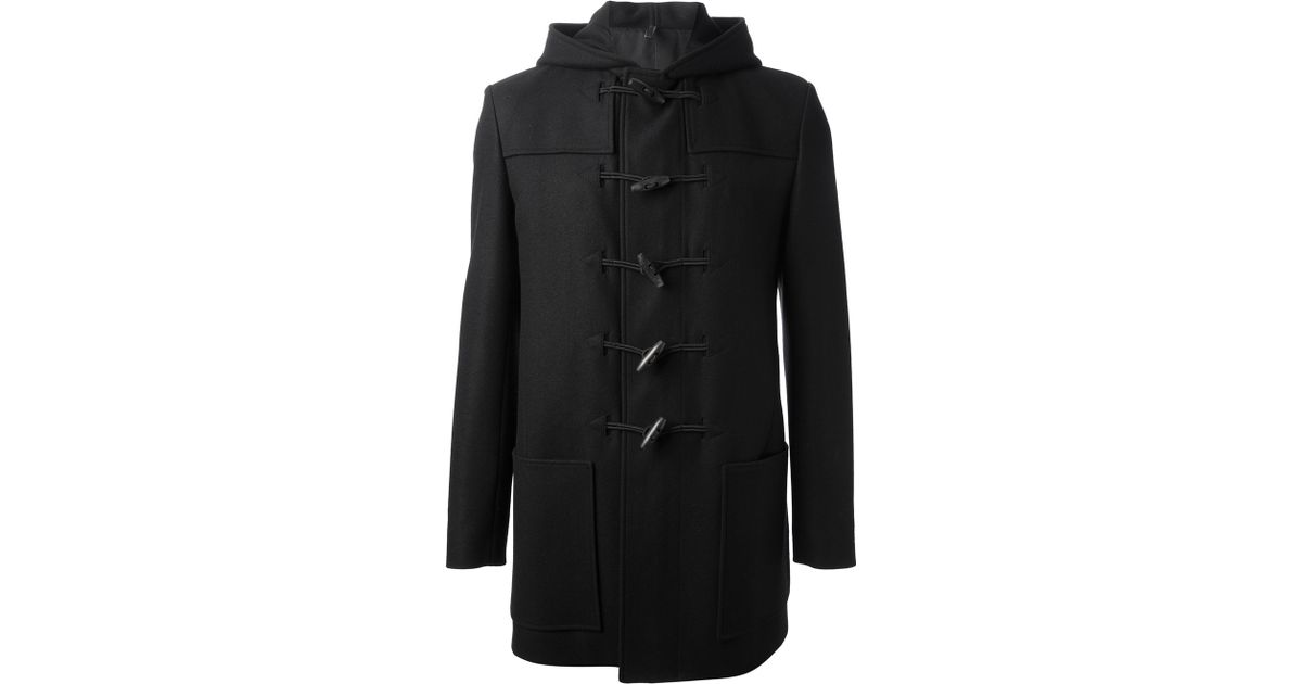 Dior homme Toggle Fastening Coat in Black for Men | Lyst