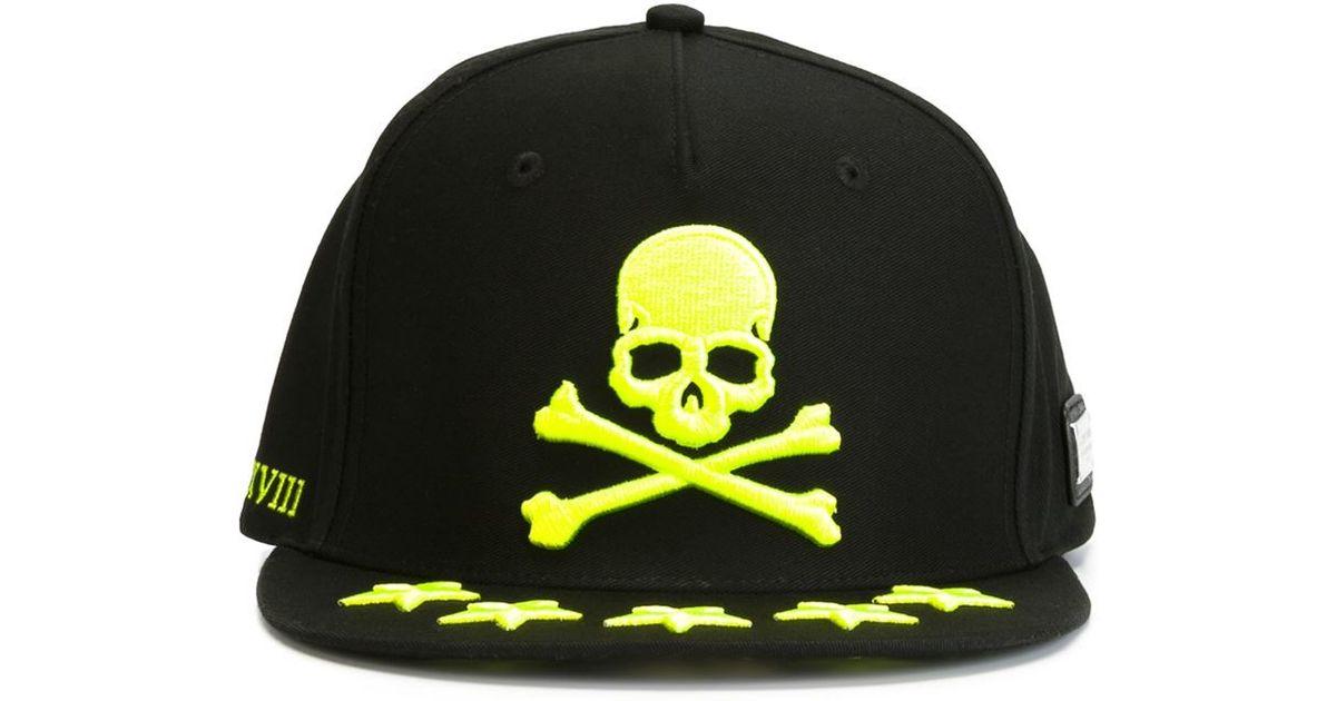 philipp plein 39 hola 39 baseball cap in black for men lyst. Black Bedroom Furniture Sets. Home Design Ideas