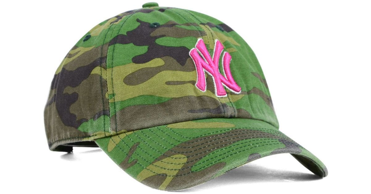 Lyst - 47 Brand Women s New York Yankees Clean Up Cap in Green 9688078d6f2