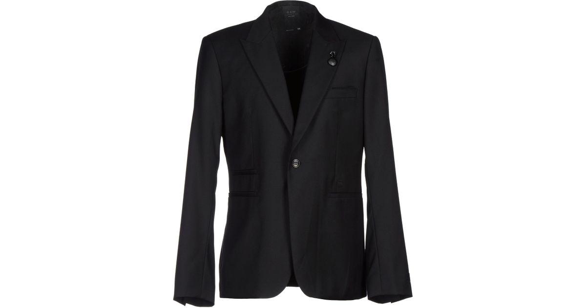 star raw blazer in black for men lyst. Black Bedroom Furniture Sets. Home Design Ideas