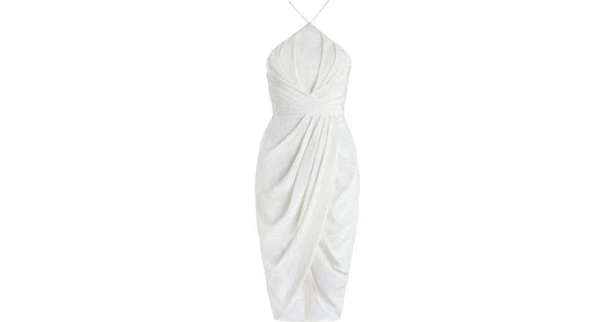 1ea7d067de49 Zimmermann Silk Tuck Dress in White - Lyst