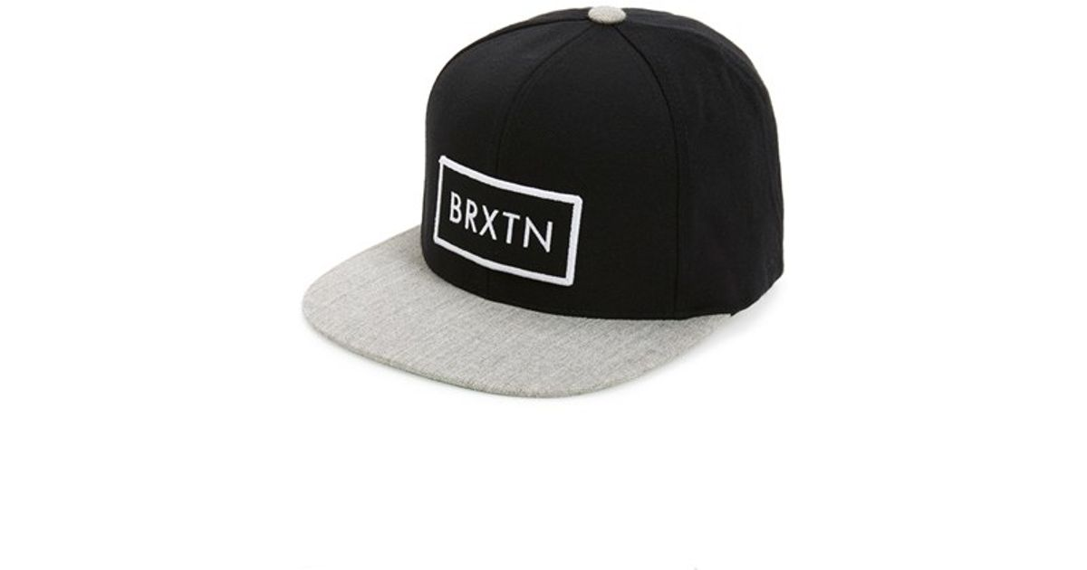 6bdc267758a Lyst - Brixton  rift  Snapback Cap in Black for Men