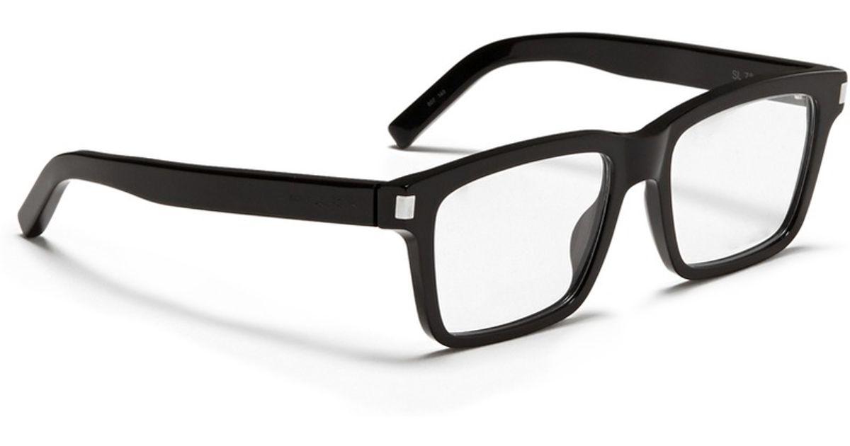 Saint Laurent Square-Framed Acetate Optical Glasses in Black for Men - Lyst 3d1627a03