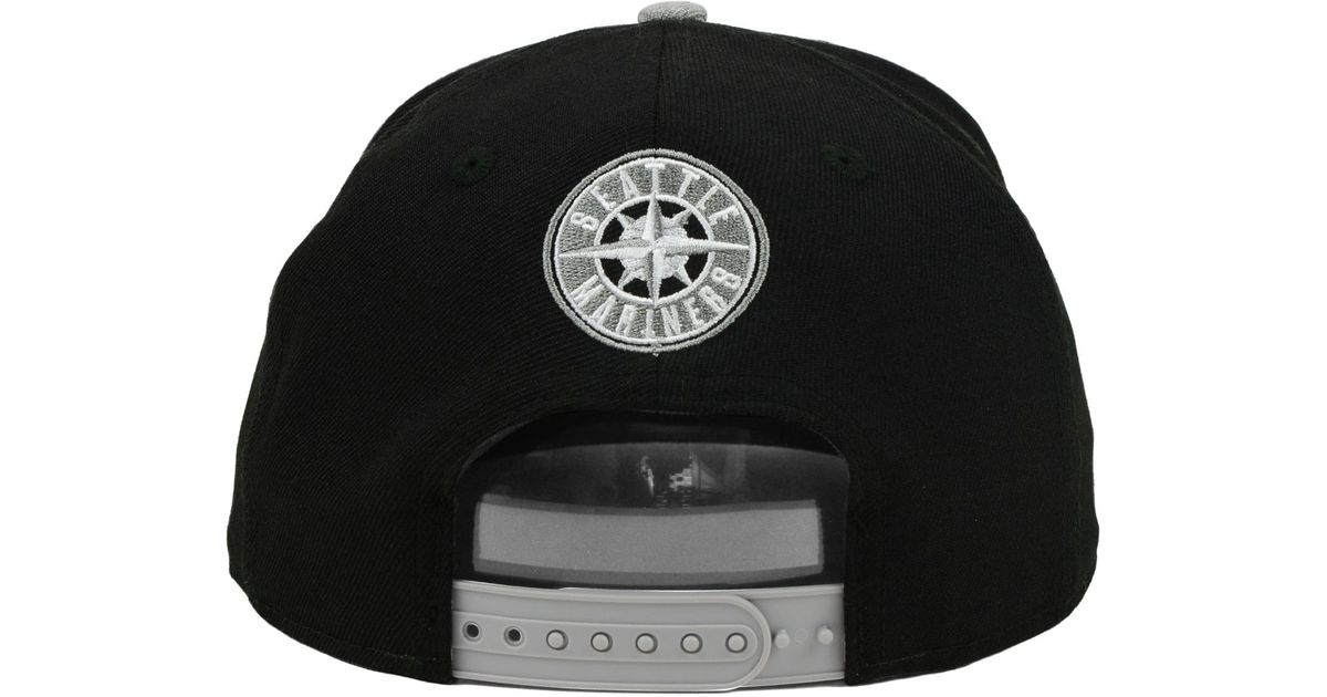 hot sale online cf962 71725 ... promo code for clearance lyst ktz seattle mariners mlb h black 9fifty  snapback cap in black