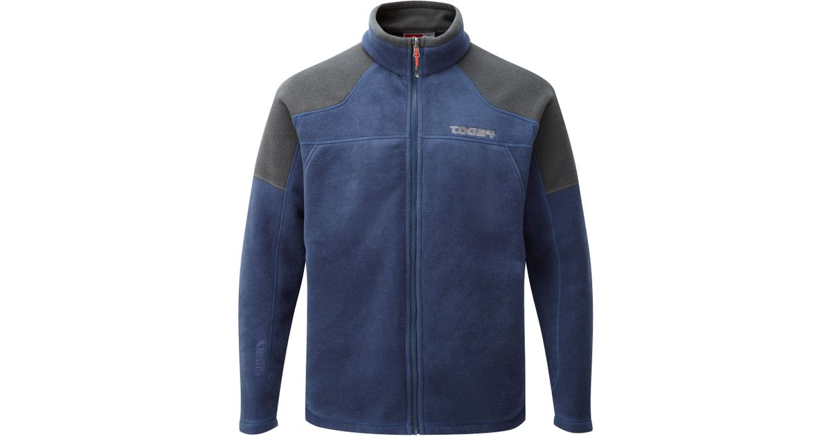 Tog 24 New Zealand Polartec Fleece Jacket In Blue For Men