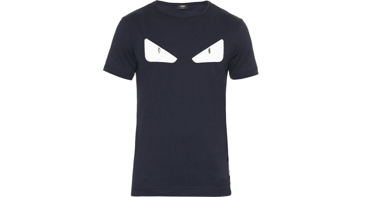 8a0de2ba8 Fendi Bag Bugs Eyes Leather And Cotton-jersey T-shirt in Black for Men -  Lyst