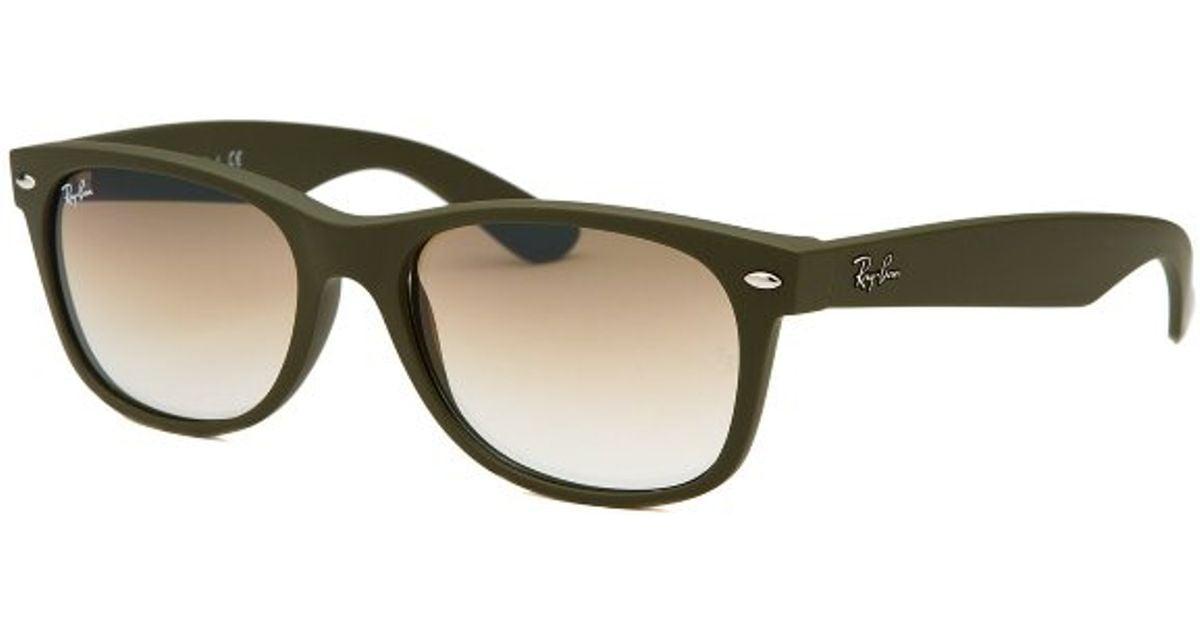 ray ban polarized wayfarer lenses  Ray-ban New Wayfarer Matte Olive Green Sunglasses in Green