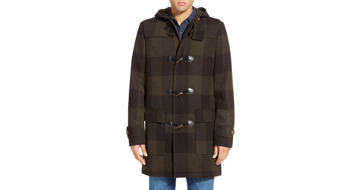Original penguin 'paddington' Wool Blend Duffle Coat in Brown for ...