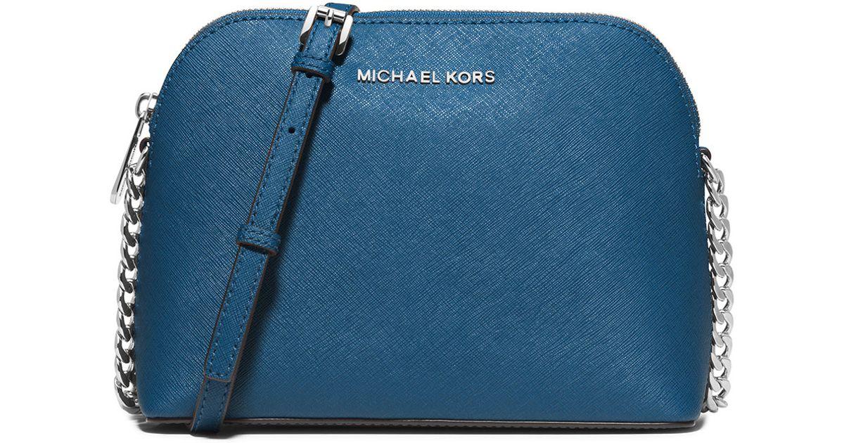 c759cabd878 Lyst Michael Kors Cindy Large Dome Saffiano Crossbody Bag. Michael Kors Jet  Set Travel ...