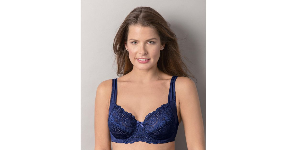 29466e5ec51 DAMART Pack Of 2 Underwired Lacy Bras in Blue - Lyst