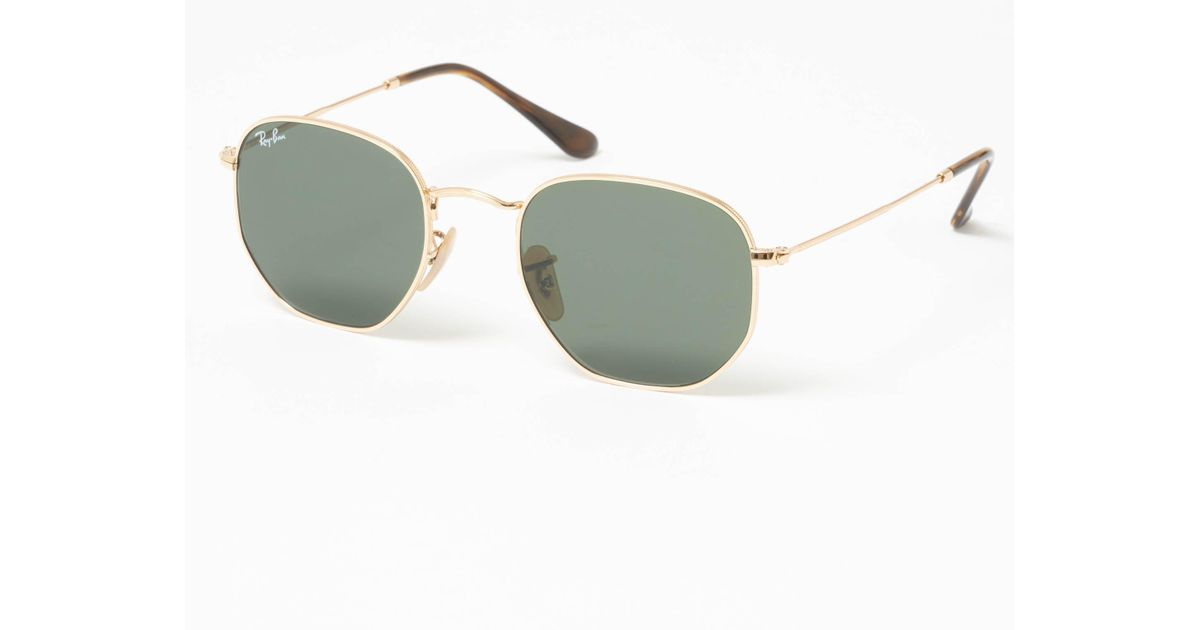 d9228ac860 Ray-Ban Hexagonal Flat Lens Sunglasses - Green Classic G-15 Lenses in Green  for Men - Lyst