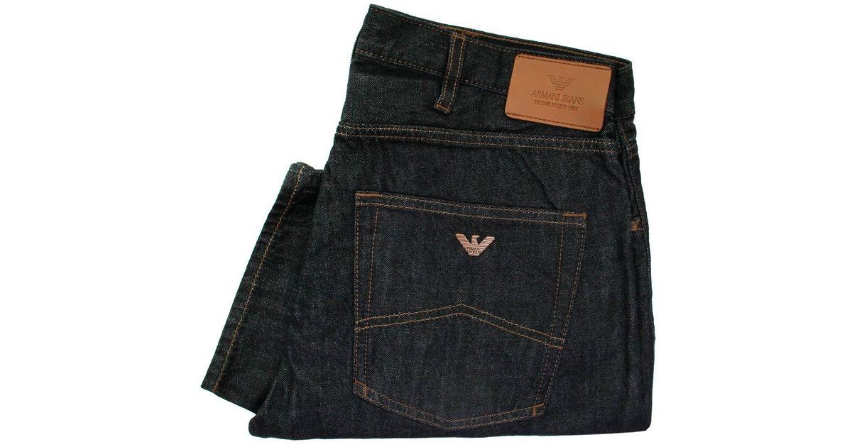 59d54d8f Armani Jeans - Blue J45 Slim Fit Dark Denim Jeans 6X6J45 for Men - Lyst