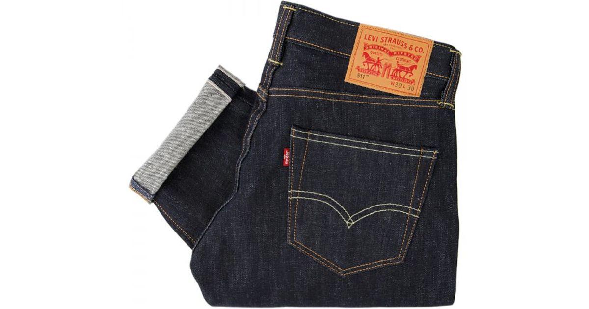 Attractive Lyst - Levi'S Levi'S 511 Slim Fit Selvedge Denim Jeans Eternal Day  CC69