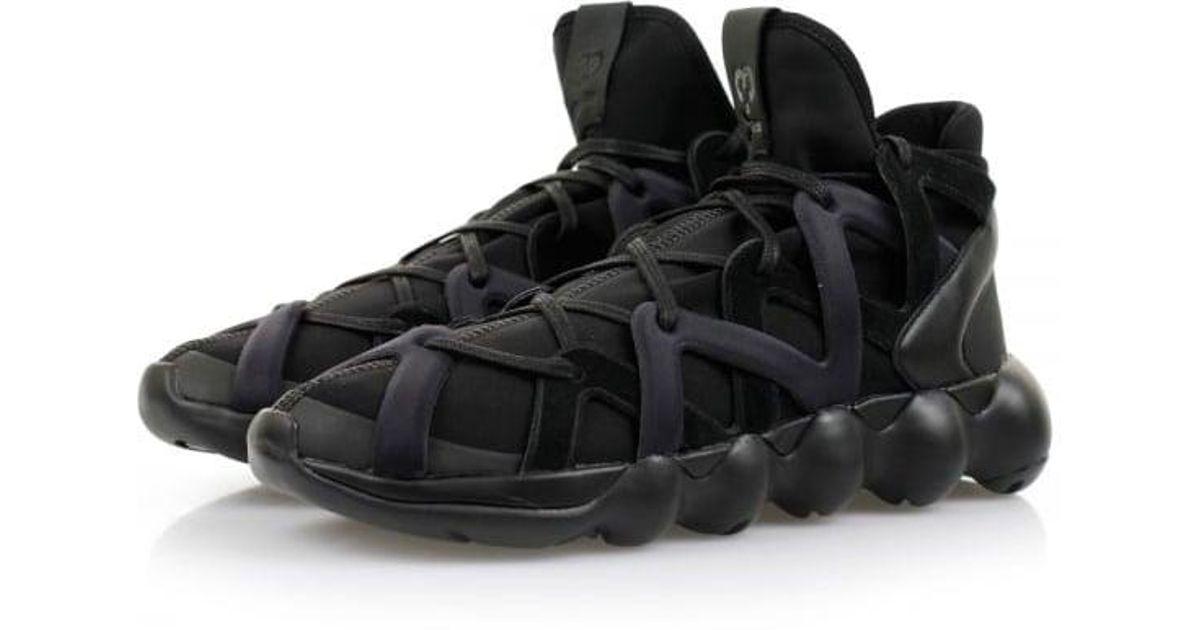 buy online 8ca6e e51af Lyst - Y-3 Kyujo High Black Shoes Aq5545 in Black for Men