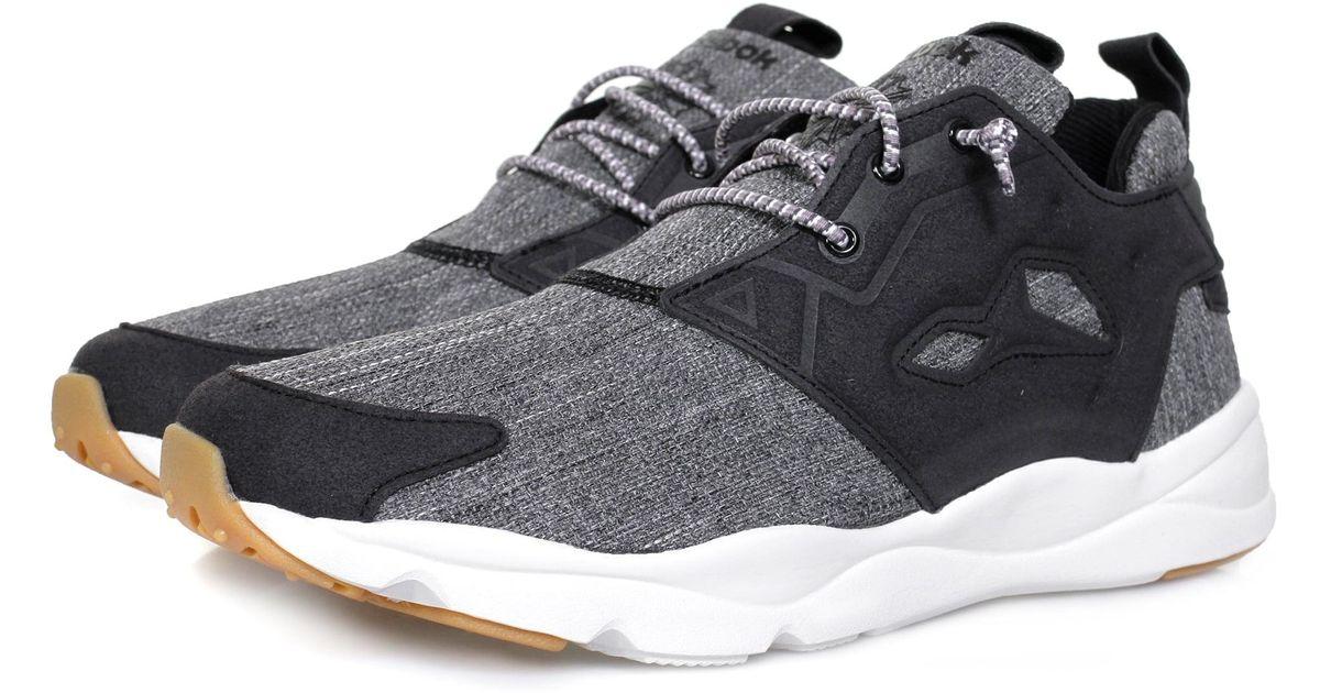 587d7c3fba8c15 Lyst Reebok Furylite Refine Black Shoe Bd3850 In For Men