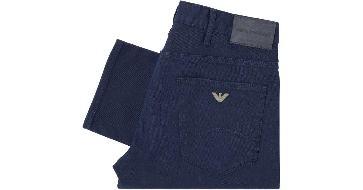 5b8cd866a9 Emporio Armani - Blue J06 Slim Fit Stretch Cotton Jeans for Men - Lyst