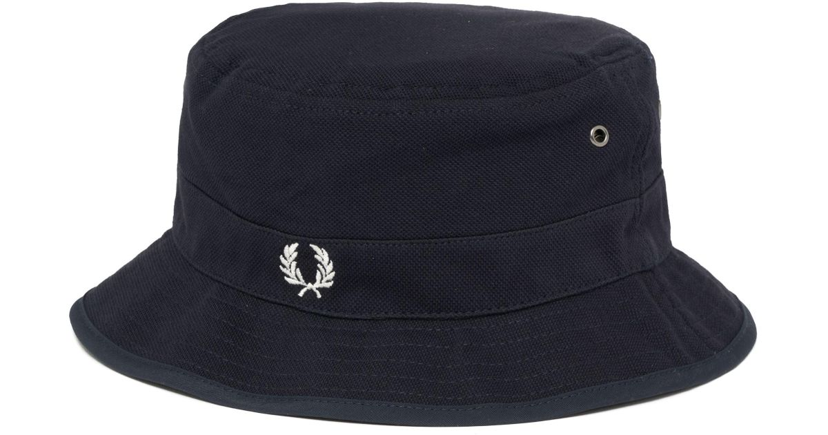 6cdad198321 Fred Perry Authentic Reversible Fisherman Bucket Hat in Blue for Men - Lyst
