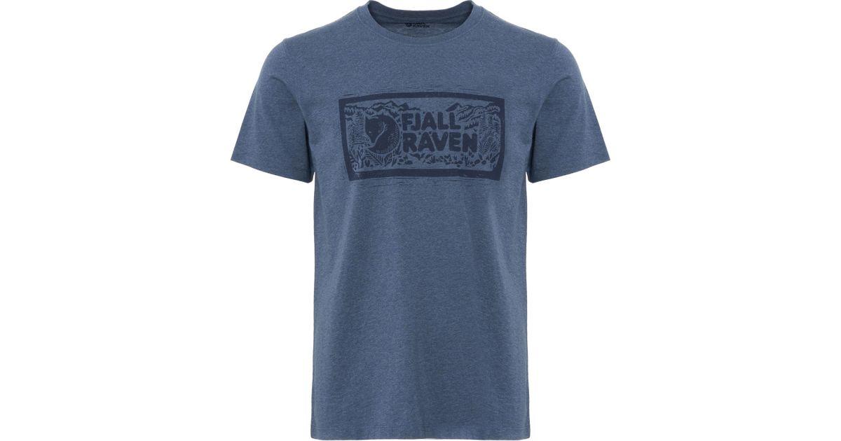 nieuw concept op voeten bij knap Fjallraven Logo Stamp T-shirt in Blue for Men - Lyst