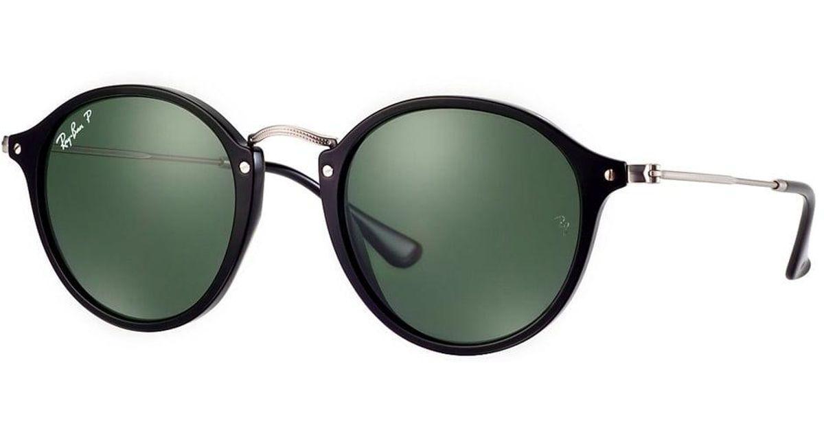 3dec85d57f Lyst - Ray-Ban Round Fleck Sunglasses - Green Classic G-15 Lenses in Green