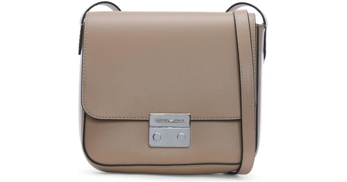 34d16a5162 Lyst - Emporio Armani Wilma Sling Beige Cross-body Bag in Natural