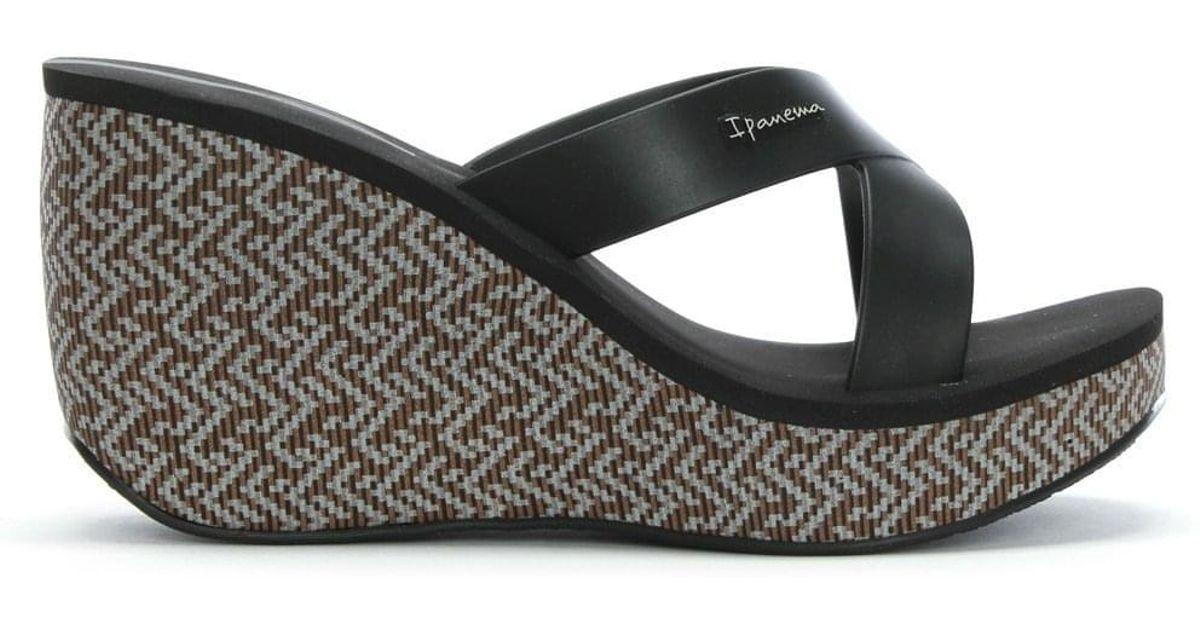118de4b0acb4 Lyst - Ipanema Straps Black Wedge Sandals in Black