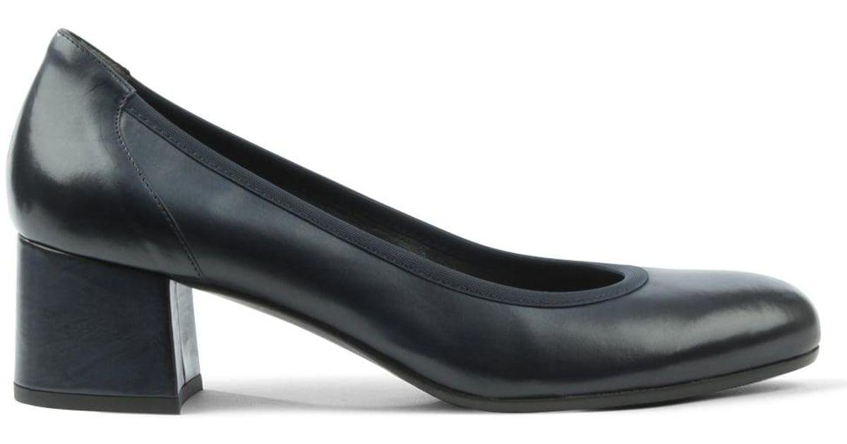 773f911d0ce Lyst - Daniel Footwear Navy Leather Round Toe Court Shoe in Blue