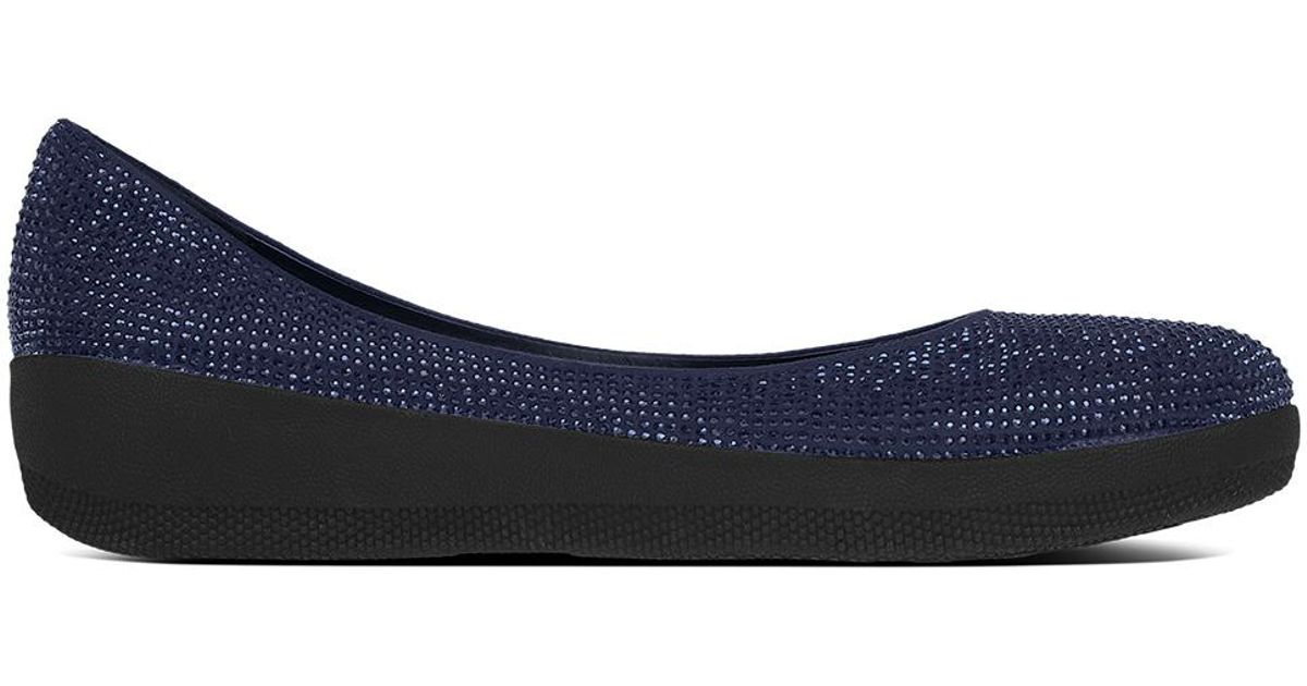 82432b62b45 Fitflop Navy Crystal Superballerina Pumps in Blue - Lyst