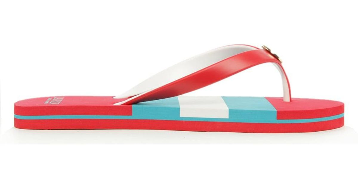 185b032bb Lauren By Ralph Lauren Elissa Red Striped Flip Flop in Red - Lyst