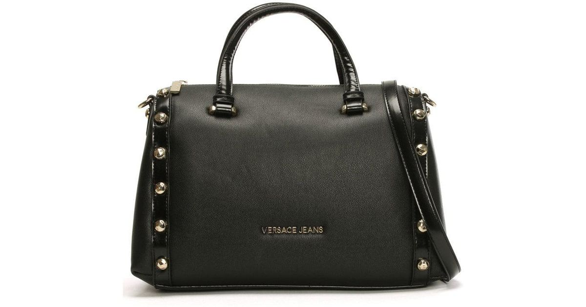 797e172bdfcd Lyst - Versace Jeans Raft Black Textured Bowling Bag in Black
